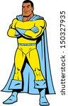 smiling black classic superhero ... | Shutterstock .eps vector #150327935