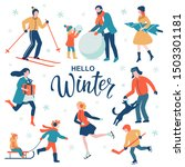 hello winter text. leisure... | Shutterstock .eps vector #1503301181