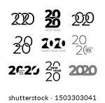 2020 happy new year text logo.  ... | Shutterstock .eps vector #1503303041