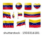 various flags of venezuela... | Shutterstock .eps vector #1503316181