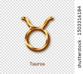 taurus golden zodiac sign on...   Shutterstock .eps vector #1503316184