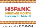 hispanic heritage month...   Shutterstock .eps vector #1503328004