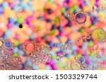 Small photo of Crystalline bubbles with hued background