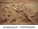 Assyrian Wall Relief  Detail O...