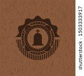 tombstone icon inside retro... | Shutterstock .eps vector #1503333917