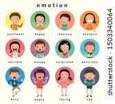 variety of emotions children ...   Shutterstock .eps vector #1503340064