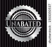 unabated silver badge. vector... | Shutterstock .eps vector #1503350537