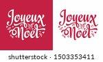 joyeux noel. noel french...   Shutterstock .eps vector #1503353411