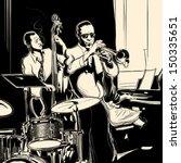 vector illustration of a jazz... | Shutterstock .eps vector #150335651