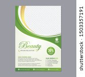 spa flyer template design with... | Shutterstock .eps vector #1503357191