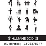 set of black humans figure and ... | Shutterstock .eps vector #1503378347