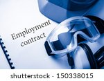 employment contract with... | Shutterstock . vector #150338015