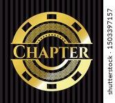 chapter golden badge. vector... | Shutterstock .eps vector #1503397157