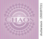 chaos badge with pink... | Shutterstock .eps vector #1503397211