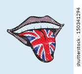 great britain flag tongue.... | Shutterstock .eps vector #150341294