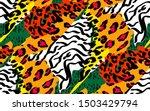 animal skin print leopard ... | Shutterstock .eps vector #1503429794