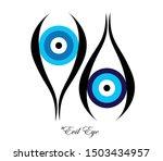 set of two evil eyes vector  ... | Shutterstock .eps vector #1503434957