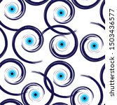 seamless pattern with artistic...   Shutterstock .eps vector #1503436577