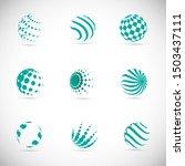 globe logo set   isolated on...   Shutterstock .eps vector #1503437111