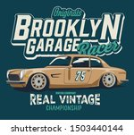 vector retro race car... | Shutterstock .eps vector #1503440144