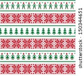 christmas nordic seamless... | Shutterstock .eps vector #150344651