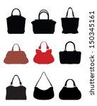 silhouettes of handbags 2 vector | Shutterstock .eps vector #150345161