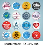 various stickers  labels and... | Shutterstock .eps vector #150347405