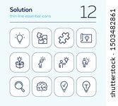 solution line icon set. bulb ...   Shutterstock .eps vector #1503482861