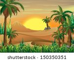 illustration of a forest at the ...