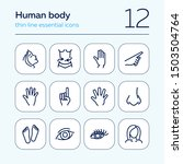 human body line icon set. face  ... | Shutterstock .eps vector #1503504764
