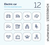 electric car line icon set.... | Shutterstock .eps vector #1503508424