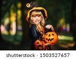 Happy Halloween. Cute Little...
