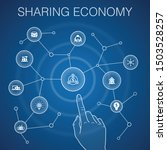 sharing economy concept  blue...