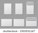 envelope a4 mockup. template... | Shutterstock .eps vector #1503531167