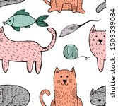 vector seamless pattern with... | Shutterstock .eps vector #1503539084