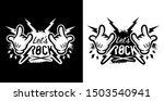lets rock music hand sign shirt ... | Shutterstock .eps vector #1503540941