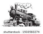 Vintage Steam Train Locomotive  ...
