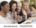 happy multiethnic female... | Shutterstock . vector #150359354
