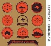 australia vintage label design | Shutterstock .eps vector #150361589
