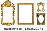antique isolated golden picture ... | Shutterstock . vector #1503622271