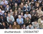 high angle view of multiethnic... | Shutterstock . vector #150364787