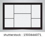 templates collage 6 frames... | Shutterstock .eps vector #1503666071