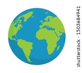 green earth globe vector design | Shutterstock .eps vector #1503684941