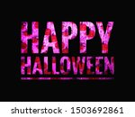 glossy pink lettering happy... | Shutterstock . vector #1503692861