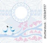 wedding invitation card vector...   Shutterstock .eps vector #150369557