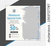 template social media post ...   Shutterstock .eps vector #1503727787