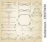 calligraphic design elements.... | Shutterstock . vector #150374654