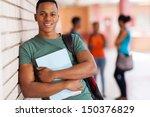 happy african american college... | Shutterstock . vector #150376829