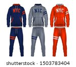 sport track suit design...   Shutterstock .eps vector #1503783404