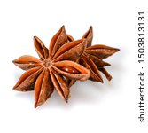 Star Anise Spice. Two Dry Star...